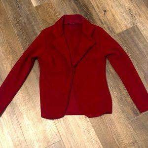 Burgundy Casual blazer